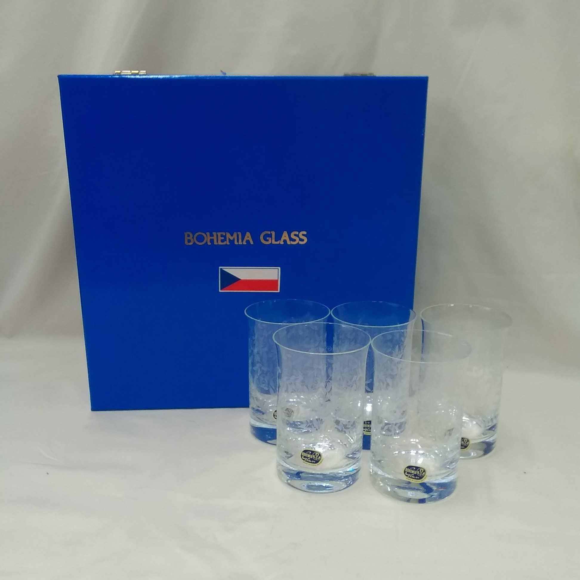 グラス 5個セット BOHEMIA GLASS