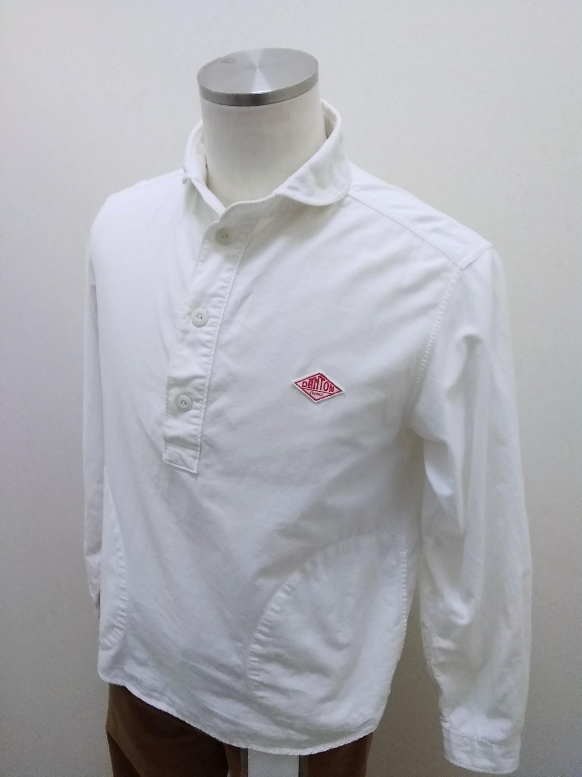 丸えりオックスシャツ / ホワイト / 38 DANTON