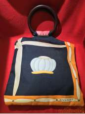 BVLGARIハンドバッグ スカーフ柄|BVLGARI