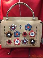 フラワーレザーハンドバッグ|FENDI