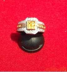 K18ダイヤ石付きリング|