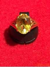 K18黄石付きリング 