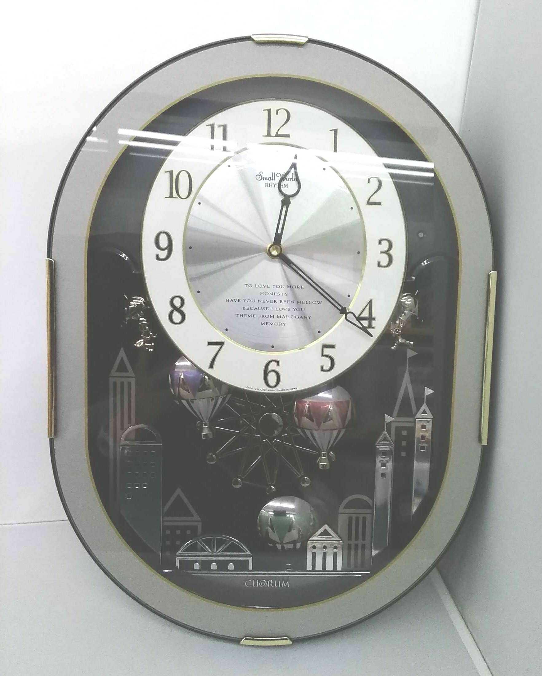 からくり時計 4MH758RH スモールワールドクオラム|リズム時計 RHYHM