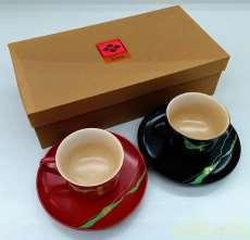 コーヒーカップ&ソーサーセット 秀衡塗