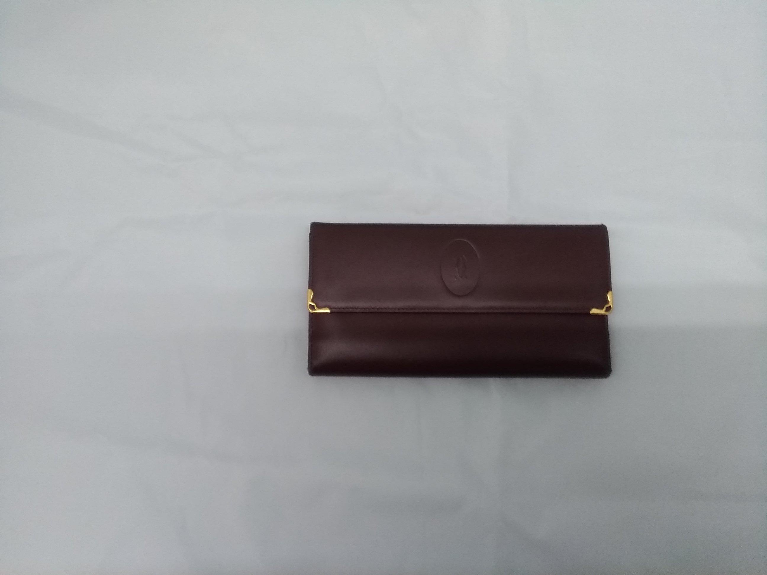 三つ折りがま口財布|CARTIER