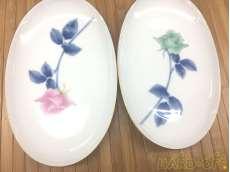ペア皿バラの色違い|香蘭社