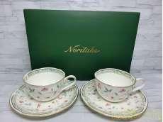 未使用 花更紗 碗皿ペア|Noritake