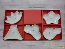 未使用 波佐見焼 型変り豆皿揃|西海陶器