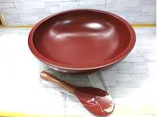 古代朱こね鉢・木べら付|不明