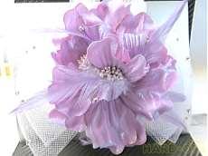 髪飾り リボン紫|不明