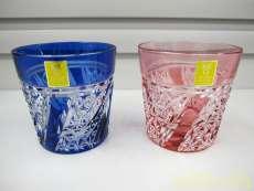 江戸切子クリスタル ペア冷酒杯|カガミクリスタル