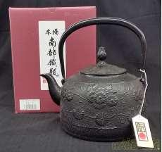 鉄瓶(金野和司作・唐菊2ℓ)|南部鉄瓶