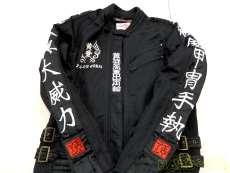 メッシュ ジャケット 刺繍 漢字 イエローコーン