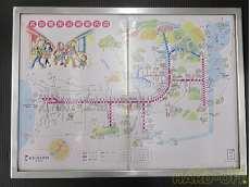 京阪電車沿線案内図 額入り