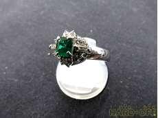 エメラルドリング プラチナ ダイヤモンド