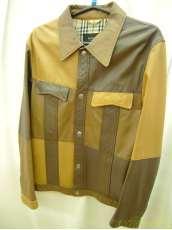 バーバリーブラックレーベルパッチワーク羊革ジャケット|BURBERRY BLACK LABEL