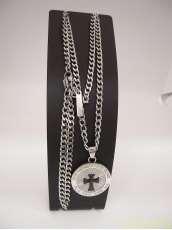 ポリススチールネックレス十字架|POLICE