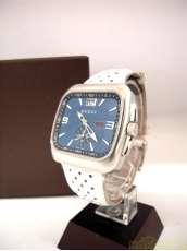 グッチホワイト革ベルトブルー腕時計|GUCCI