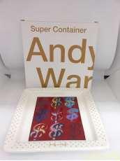 Andy Warhol Dollar Signs 陶製スクエアプレート(大)|KINTO