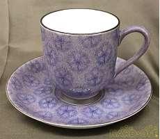 深川製磁 コーヒー碗皿 紫なでしこ|深川製磁