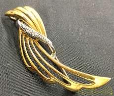 ブローチ 金 プラチナ 宝飾品 貴金属|宝石付きリング