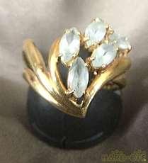 リング 指輪 K18 金 宝飾品 貴金属|宝石付きリング