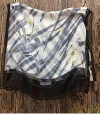 伊藤園コラボ お茶犬 フラワー シースルー スカーフ|salvatore ferragamo
