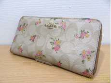 シグネチャー花柄ラウンドファスナー財布|COACH