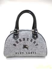 バーバリー ロゴ刺繍 ミニボストンバッグ|BURBERRY BLUE LABEL