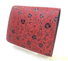 印傳屋 印伝の財布 女札入れ 2204椿|印傳屋