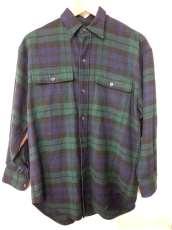 ラムウールチェックシャツ