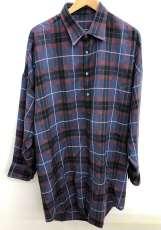 ロングウールチェックシャツ|LAD MUSICIAN