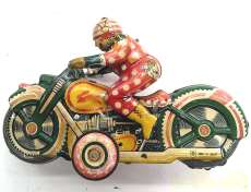 ブリキ玩具 ピエロのアクロバットバイク|佐藤玩具