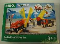 RAIL&ROAD CRANE SET|BRIO