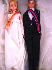 ジェニーとジェフ 皇太子殿下と雅子様の結婚の儀ロイヤルウェディングペアセット|TAKARA