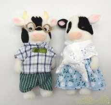 シルバニアファミリー 牛のおじいさん&おばあさんセット|エポック社